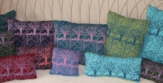 Machine Knitted Cushions